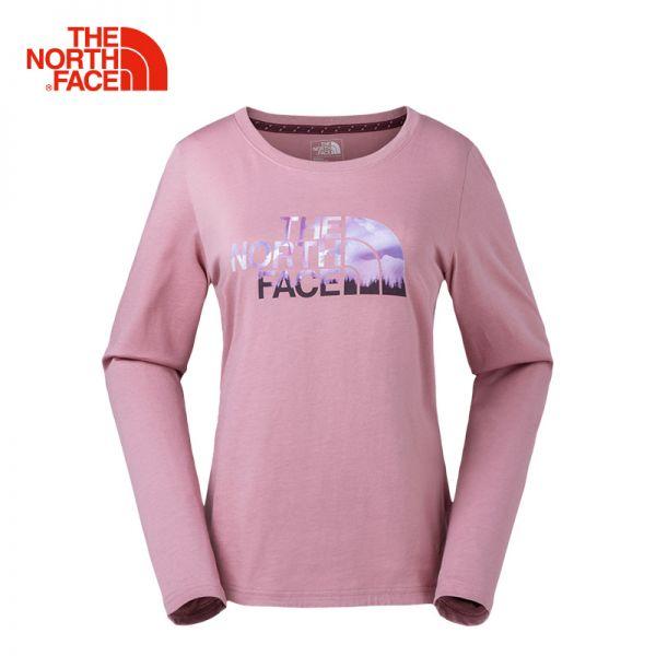 TheNorthFace北面春夏新品舒适透气户外休闲女长袖圆领T恤|3CIL