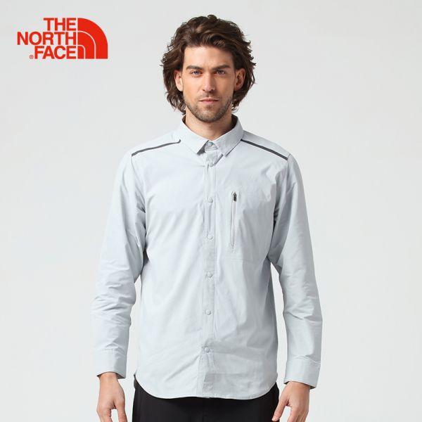 TheNorthFace北面春夏新品吸湿排汗透气户外徒步男长袖衬衣|3CHF