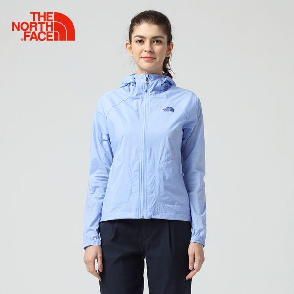 TheNorthFace北面夏季轻薄透气可打包户外运动女皮肤衣|2VEP