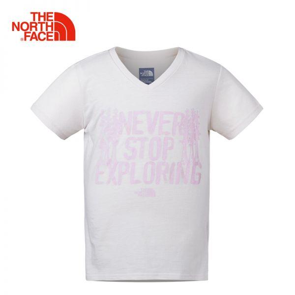 TheNorthFace北面童装春夏新款女童中大童打底上衣短袖T恤|3CU5