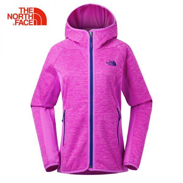 TheNorthFace北面春夏新品舒适保暖户外休闲女连帽抓绒外套|3GCX
