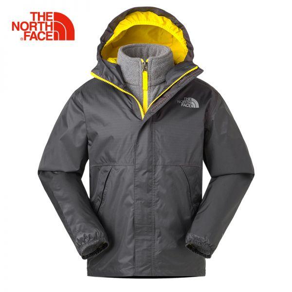 TheNorthFace北面童装春季新款防水户外男童三合一冲锋衣|3CNW